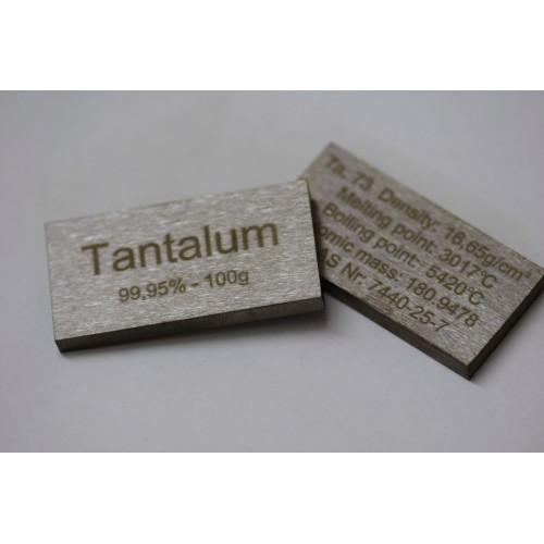 Tantalum bar 99,95% - 100g