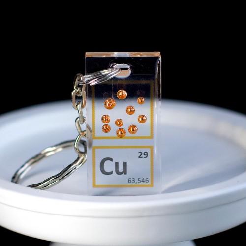 Copper keychain