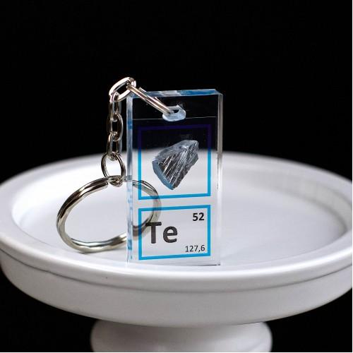 Tellurium keychain