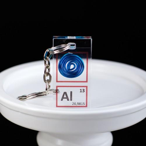 Aluminium keychain