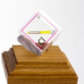 Chlorine (Acrylic cube 25x25x25mm)
