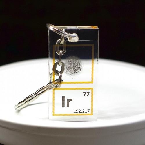 Iridium keychain
