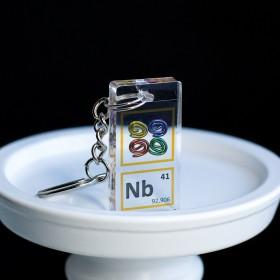 Niobium keychain