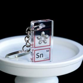 Tin keychain
